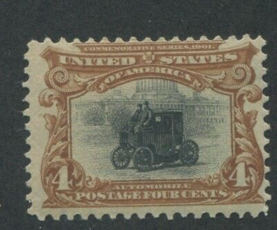 1901 US Stamp #296 4c Mint F/VF Original Gum Electric Automobile Pan-American