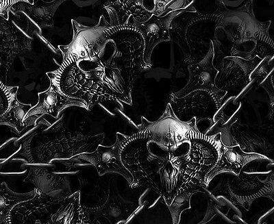 Water Transfer Hydrographic Film Hydro Dip Hydro-dipping Film Chained Skulls 1sq