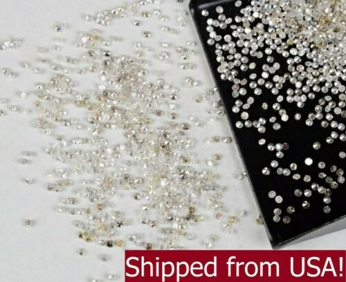 Natural Loose Diamonds Round 100 Pcs I1-I3 Clarity G-H White Color 100% Real