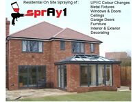 Professional On Site Paint Spraying Service - UPVC Windows Doors - Garages - Shop Fronts - UK
