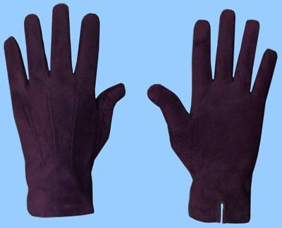 NEW MENS GENUINE PURPLE SUEDE LEATHER GLOVES with CASHMERE LINING - HIGH - Mens Suede Leather Glove