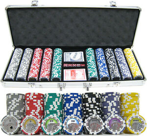 13.5g 500 Count Professional Las Vegas Casino Royale CLAY Poker Chip Set w Case