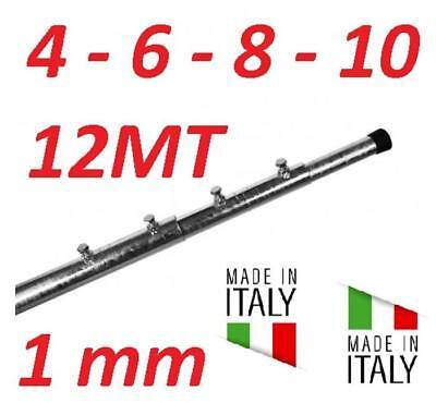 PALO TELESCOPICO ANTENNA 4 6 8 10 12 METRI 1 MM ZINCATO A FUOCO MADE IN ITALY