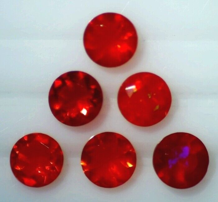 CHERRY OPAL 6.00 MM ROUND CUT ALL NATURAL SOLD PER STONE F-306