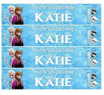 Personalised Disney Frozen Icing Ribbon Cake Decoration Decor Plus 4 Strips ()