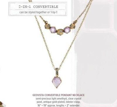 Chloe and Isabel Geovista Convertible Pendant Necklace N343 - NEW -
