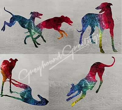 Seaside Dreams Greyhound Dog Notecards Set of 4 w/env
