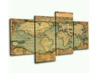 Bold block Design brand new world map picture