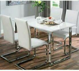 High gloss dining set