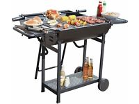Deluxe lovo premium charcoal party BBQ with rotisserie