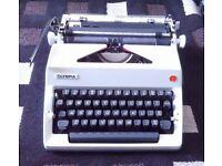 Vintage Olympia Typewriter in case