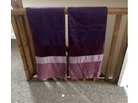 NEXT plum tab top curtains 54inch drop