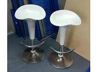 Two used bar stools
