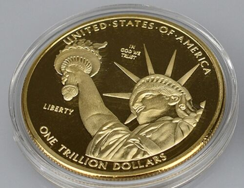 One Trillion Dollar Gold plated US Commemorative Metal USA Coins