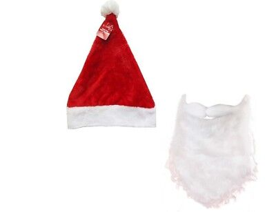 Santa Claus Hat With Santa  Beard And Moustache Xmas Christmas Fun - Santa Claus Hat And Beard