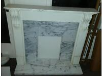 Fireplace surround and marble could be very nice project BARGAIN