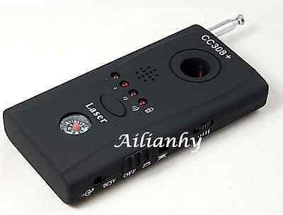 Anti-Spy RF Signal Bug Detector Hidden Camera Laser Lens GSM Finder CC308+ New y