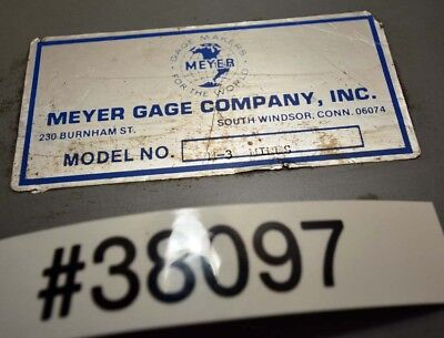 Meyer Pin Gage Set .501-.625 Inv 38097