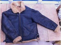 World War Two RAF style handmade, real sheepskin flying jacket