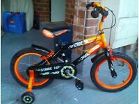 Boys bike with stabilizers