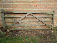 £62 for Oak five bar gate beautifully constructed - about 10 foot wide