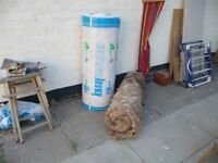 A complete roll and approximately 1/2 roll of Knauppf 170mm loft, (or other) insulation.