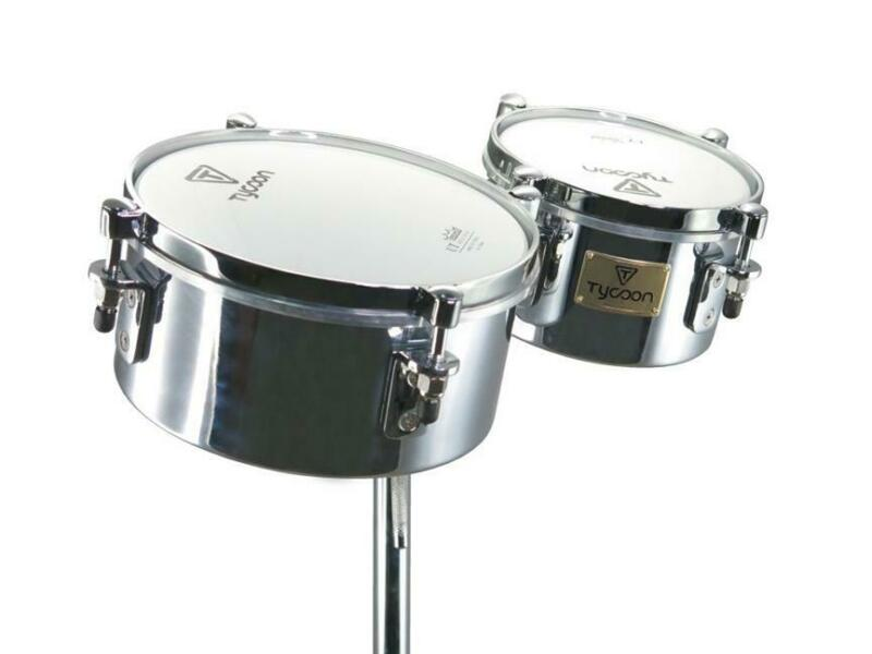 TYCOON PERCUSSION Instrument 6 Inch & 8 Inch Mini Chrome Timbales Hand DRUMs