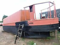 36 ft unfinished project narrow boat narrowboat sail away canal/river boat