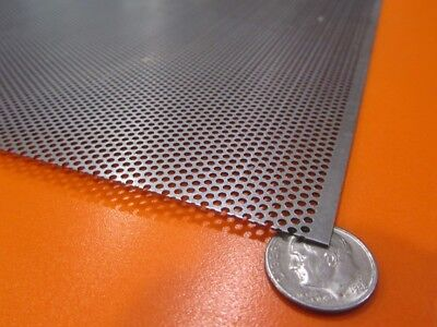 "Perforated Staggered Steel Sheet .036"" Thick x 24"" x 24"", .062"" Hole Dia., 41%  for sale  Shipping to Canada"