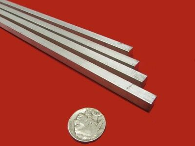 6061 T6 Metric Aluminum Square Bar 8mm Thick X 8mm Wide X 3 Ft Length 4 Units