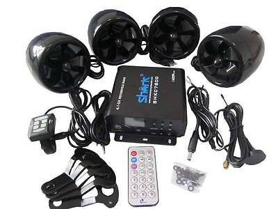 shark SHKC7800 1400w 4.1ch motorcycle audio system w/ 2 remotes,FM, SD,USB bl
