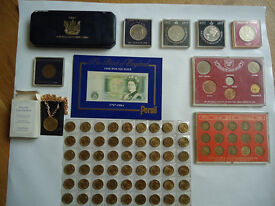 Large number of British coins - farthings to silver florins