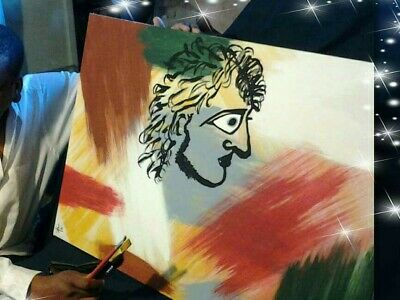Alexander The Great Artwork Originally One Of A Kind  Painting Romen A1 🎥 item
