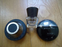 Bulgari Bvlgari and Burberry mens eau toilette aftershave