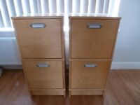 Two very good quality filing cabinets in as new condition (definitely not flat pack quality)