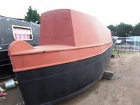 narrow boat canal river narrow boat unfinished boat project sail away
