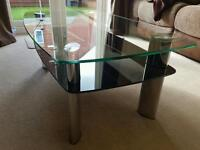 Black glass coffee table ( Carla from Harvey's)