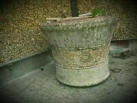 Large stone type plant pots