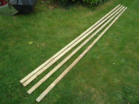 4 roofing battens - 3.9m in length