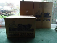 As new Cardboard boxes for storage or house move - just moved house