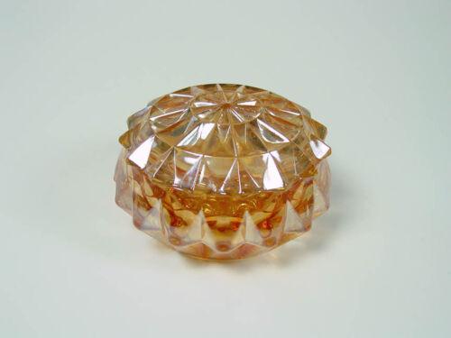 "Jeannette - Marigold Carnival - Windsor Diamond - Pink - 4"" Powder Jar & Lid"