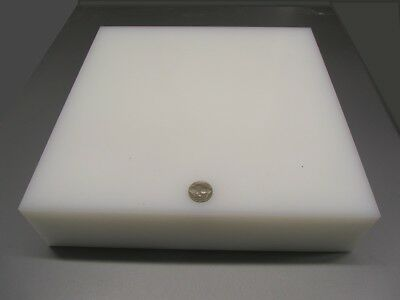 "Tivar UHMW PE Natural White Sheet 2.75"" (2 3/4"") Thick x 12"" x 12"" for sale  Shipping to Canada"