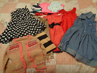 BIG Bundle of Girls Clothes Age 5-6 - Dresses, Tops, Cardigan - Next, Dunnes, H&M etc 11 items