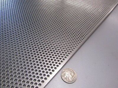 Perforated Straggered Steel Sheet .060 Thick X 36 X 40 .125 Hole Dia.