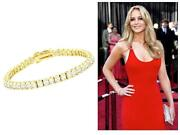 Yellow Gold CZ Tennis Bracelet