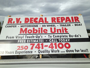 RV DECAL REPAIR
