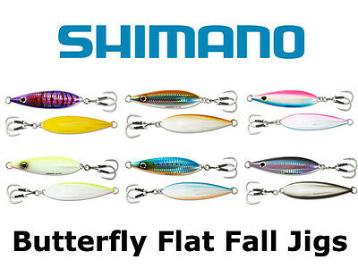 Shimano Butterfly Flat Fall Jigs   Choose Size And Color