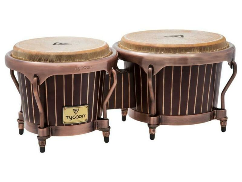 TYCOON PERCUSSION Instrument Master Pinstripe BONGOS 7 & 8 ½ Inch Hand DRUM