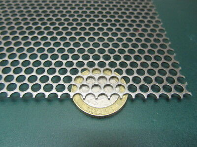 Perforated Staggered Steel Sheet .036 Thick X 24 X 24 .156 Hole Dia.