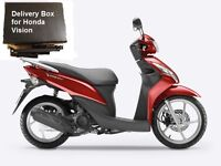 Motorcycle delivery box for Honda Vision 110